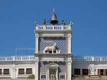The Clock Tower , Venice , Italy royalty free stock photos