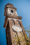 Clock tower in Venice, Italy stock image
