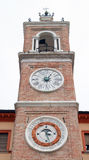 The clock in the tower, Venice Stock Photos