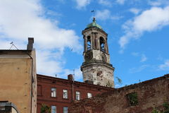 Clock tower, Viborg City. Stock Images