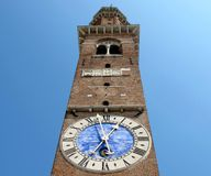The clock tower in Vicenza Stock Photography