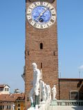 The clock tower in Vicenza, Italy. (Bissara tower Royalty Free Stock Images
