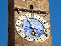 The clock tower in Vicenza. Italy (Bissara tower Royalty Free Stock Photo
