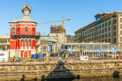 Clock Tower in the Victoria Alfred Water front in Cape Town Stock Image