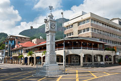 The clock tower of Victoria, Seychelles Stock Photography