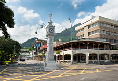 The clock tower of Victoria, Seychelles Royalty Free Stock Photography