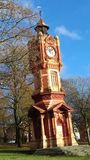 Clock tower. Victorian clock tower from Preston park in Brighton royalty free stock photo