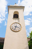 Clock tower. At The Villa del Balbianello, lake como, Italy royalty free stock photography