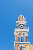 Clock Tower in the village of Thira, Santorini, Greece Royalty Free Stock Image