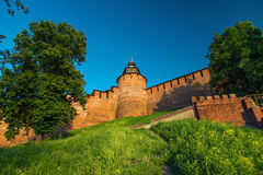 Clock Tower and wall of Kremlin Royalty Free Stock Images