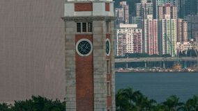 Clock Tower on the waterfront Kowloon timelapse hyperlapse