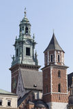 Clock tower of Wawel Royal Castle in Cracow, Poland Royalty Free Stock Image