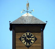 Clock tower with wind vane Royalty Free Stock Photos