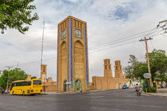 Clock tower in Yazd Stock Photos