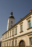 Clock tower in Zagreb Royalty Free Stock Photos