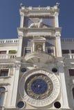 Clock tower with zodiac (Venice ,Italy). Clock tower in St Mark`s square with zodiac (Venice ,Italy). Vertically royalty free stock photo