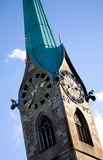 Clock tower in zurich Stock Photo