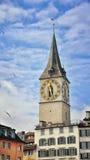 Clock tower in Zurich Stock Photo