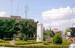 Clock town in Arusha stock photos