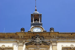 Clock in the town hall. Clock in a Asturian town hall Royalty Free Stock Image