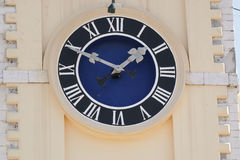 The clock on the town hall in Corfu. Greece. Royalty Free Stock Images