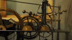 Clock town hall mechanism stock video footage