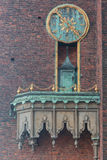 Clock Town Hall Stockholm Sweden Royalty Free Stock Photo