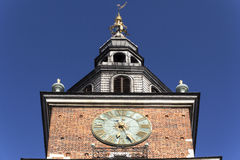 Clock on the town hall tower in Cracow, Poland Stock Images