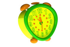 Clock toy. Three-dimensional clock toy isolate Royalty Free Stock Images