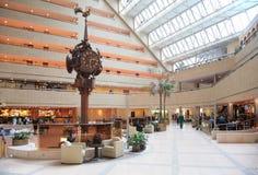 Clock in trade center Royalty Free Stock Photos