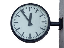 Clock for train or bus station Stock Photo