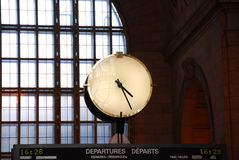 Clock train station Royalty Free Stock Photos