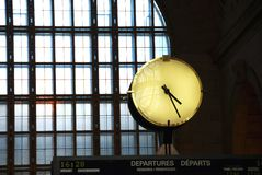 Clock train station Stock Image
