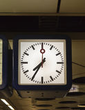 Clock at train station Stock Photography