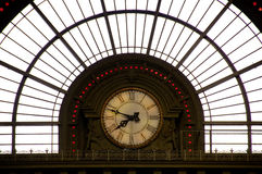Clock in train station Stock Images