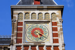 Clock at the train station in Amsterdam Royalty Free Stock Photography