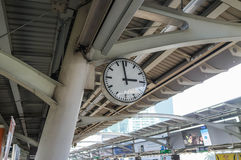 Clock in Train Station Royalty Free Stock Photo