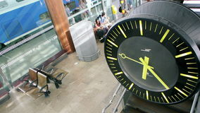 Clock in train station stock footage