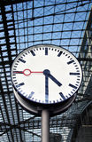 Clock at the railway station Royalty Free Stock Photo