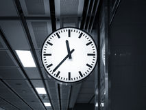 Clock at Train Station Stock Images