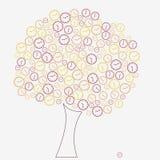 Clock tree Royalty Free Stock Photos