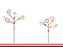 Clock trees Royalty Free Stock Image