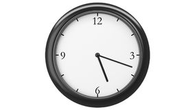 Clock with Twelve Hour Time Lapse. Front view. HD 1080. Looped animation stock video footage