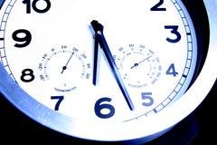 clock väggen Arkivfoto