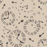 Clock vänder mot Royaltyfri Foto