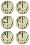 Clock vänder mot Fotografering för Bildbyråer