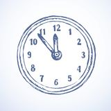 Clock. Vector drawing Royalty Free Stock Images