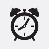 Clock. Vector icon isolated on grey background royalty free illustration