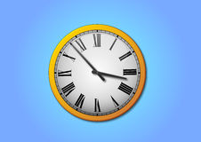 Clock. Vector Illustration of wall clock Stock Photo