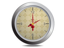Clock Vector Isolate Stock Images